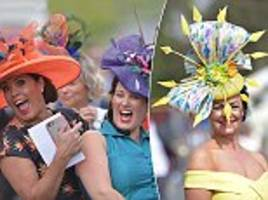 racegoers battle it out to be best dressed at york ladies day