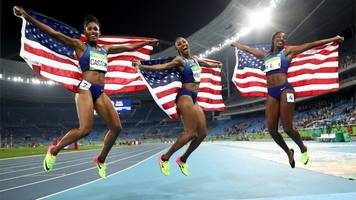 rio olympics 2016: us women sweep medals in 100m hurdles