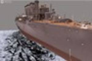 see how stunning 3d model brings ww1 wreck hms falmouth back to...