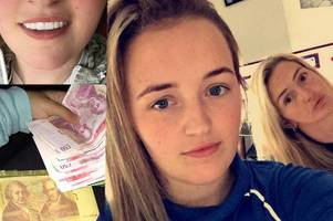 dealer mum and daughter live high life on profits from deadly blue plague pills as they flaunt cash 'like lottery winners'
