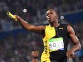 breaking news: the triple crown! usain bolt cements his legacy as the greatest sprinter in history as he makes nine gold medals out of nine with 4x100m relay victory