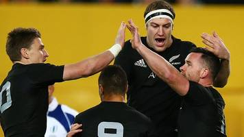 Bledisloe Cup: New Zealand thrash Australia in Rugby Championship opener