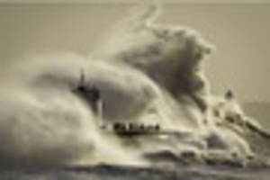 the rnli are live streaming waves battering the welsh coast and...