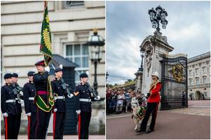 soldiers from the royal welsh have spent the past two months guarding the queen's residences