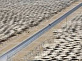 Ashalim solar power station projects sunlight onto world's highest solar tower