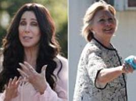 hillary clinton joined by cher at cape cod fundraiser