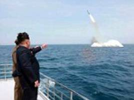 North Korea test-fires submarine-launched ballistic missile off its east coast