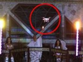 Sir Ivan Wilzig security team used a drone to keep an eye on guests at his 60th birthday bash