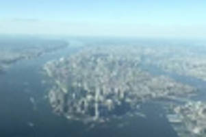 timelapse video makes flying into nyc look like a video game
