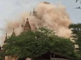 Two young girls among three killed as earthquake of 6.8 magnitude strikes Myanmar and shakes buildings in Thailand, India and Bangladesh