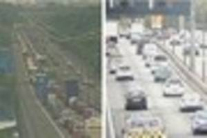 ​One lane blocked on M4 after crash