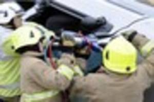 Woman in her 20s cut free from car after Boughton under Blean...