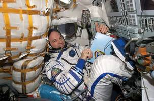 he's spent 521 days in space, a us record, but he'll be home soon