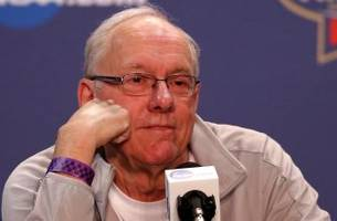 Carmelo Anthony's former college coach Jim Boeheim says it's 'unlikely' he'll win title