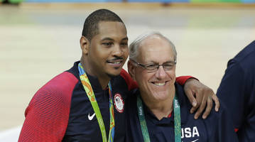 Jim Boeheim says Carmelo Anthony 'unlikely to win an NBA title'