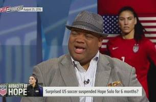 here's why we aren't surprised hope solo was suspended 6 months - 'speak for yourself'