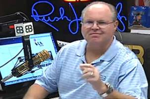 rush limbaugh literally can't stop laughing at the plight of ann coulter