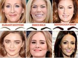 Are you sporting the Manchester Arch, London Groomed, or even the Birmingham (not Scouse) Brow? Experts reveal where women come from based on their eyebrow shape