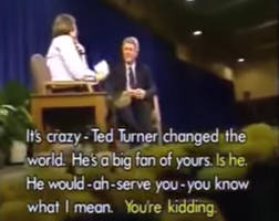 Caught On A Hot Mic In 1992, Larry King Assures Bill Clinton: Ted Turner Would Serve You