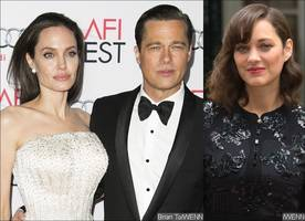 angelina jolie worries brad pitt will leave her for marion cotillard