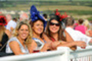 plenty of glitz and glamour on show at ffos las  ladies' day