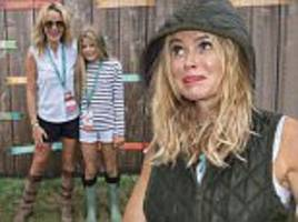 Amanda Holden braves UK's weather to go to Alex James' The Big Feastival
