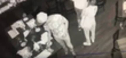 thief in mickey mouse shirt caught on camera stealing cash for bill at maspeth restaurant