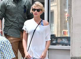 Taylor Swift Sports Bigger Breasts in Tight Crop-Top. Did She Really Get a Boob Job?