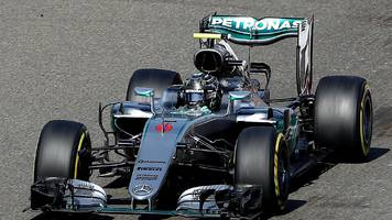Belgian Grand Prix: Nico Rosberg takes pole position from Max Verstappen