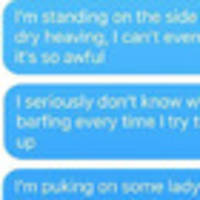 Dad's frantic texts to wife go viral
