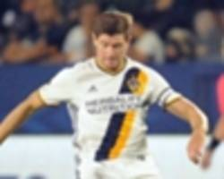 la galaxy lose gerrard and van damme in draw