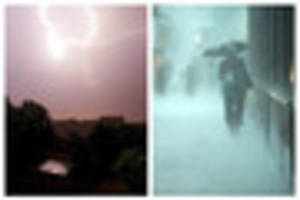 firefighters pump out homes and power's cut as storms bring one...