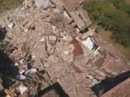 Italy earthquake's devastation captured by drone video footage
