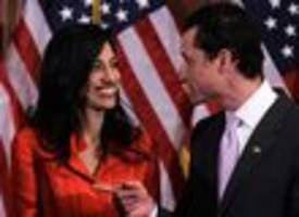 Huma Abedin Announces Separation From Weiner After Third Sexting Scandal