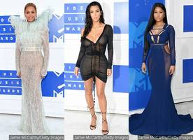 MTV VMAs 2016: Beyonce Is Snow Queen, Kim Kardashian and Nicki Minaj Show Skin on Red Carpet