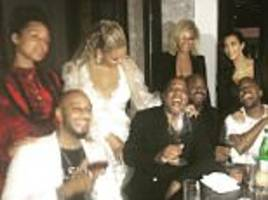 beyoncé, jay z, kanye west, kim kardashian and alicia keys in swizz beatz' post-vma instagram