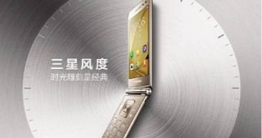 samsung galaxy folder 2 clamshell leaks in promotional images