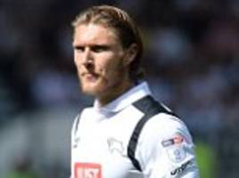 burnley on brink of completing £10m signing of derby star jeff hendrick