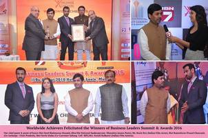 worldwide achievers felicitated the winners of business leaders summit & awards 2016