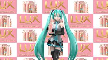 hatsune miku stars in japanese hair commercial with scarlett johansson