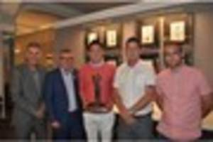 exeter city players join rgb's charity golf day for prostate...