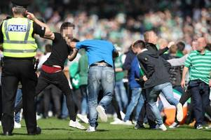 sfa rulebook farce as hampden riot probe sees rangers and hibs charged over smashed advertising hoardings