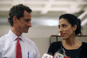 Anthony Weiner's wife seeks separation amid new sexting scandal