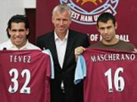 carlos tevez and javier mascherano made shock moves to west ham 10 years ago today