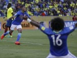 ecuador 0-3 brazil: gabriel jesus stars bags debut brace with neymar scoring from the spot to ensure tite's first game ends in success
