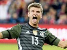 germany boss joachim low 'would've preferred if thomas muller scored at euro 2016' after his brace in norway