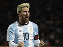 lionel messi advised to train lightly by barcelona after picking up hamstring injury while away with argentina