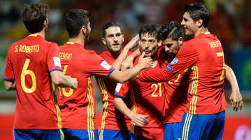 spain nets eight; bale leads wales; kosovo draws in world cup qualifying