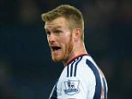 chris brunt nears west brom return after recovering from severe knee ligament injury