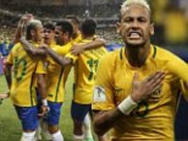 brazil 2-1 colombia: neymar moves level with zico on all-time goal-scorers list as barcelona forward gives tite's side vital world cup qualifying win